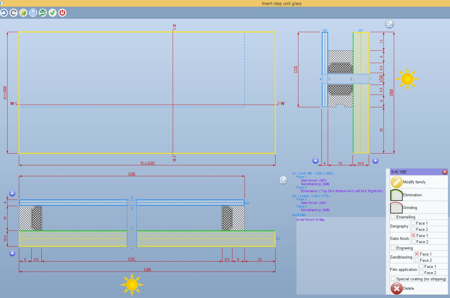 Structural glazing - Screenshot